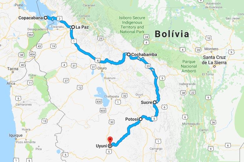 roteiro 1 semana bolívia