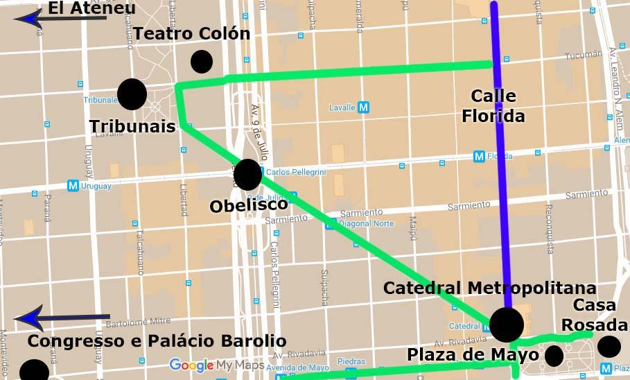 Roteiro Buenos Aires centro norte
