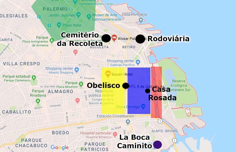 Principais bairros de Buenos Aires