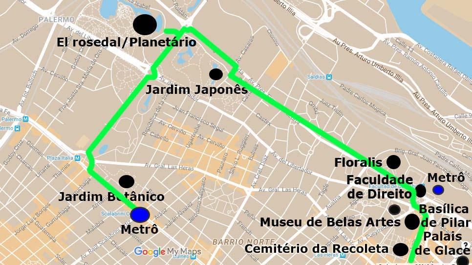 mapa turistico palermo recoleta